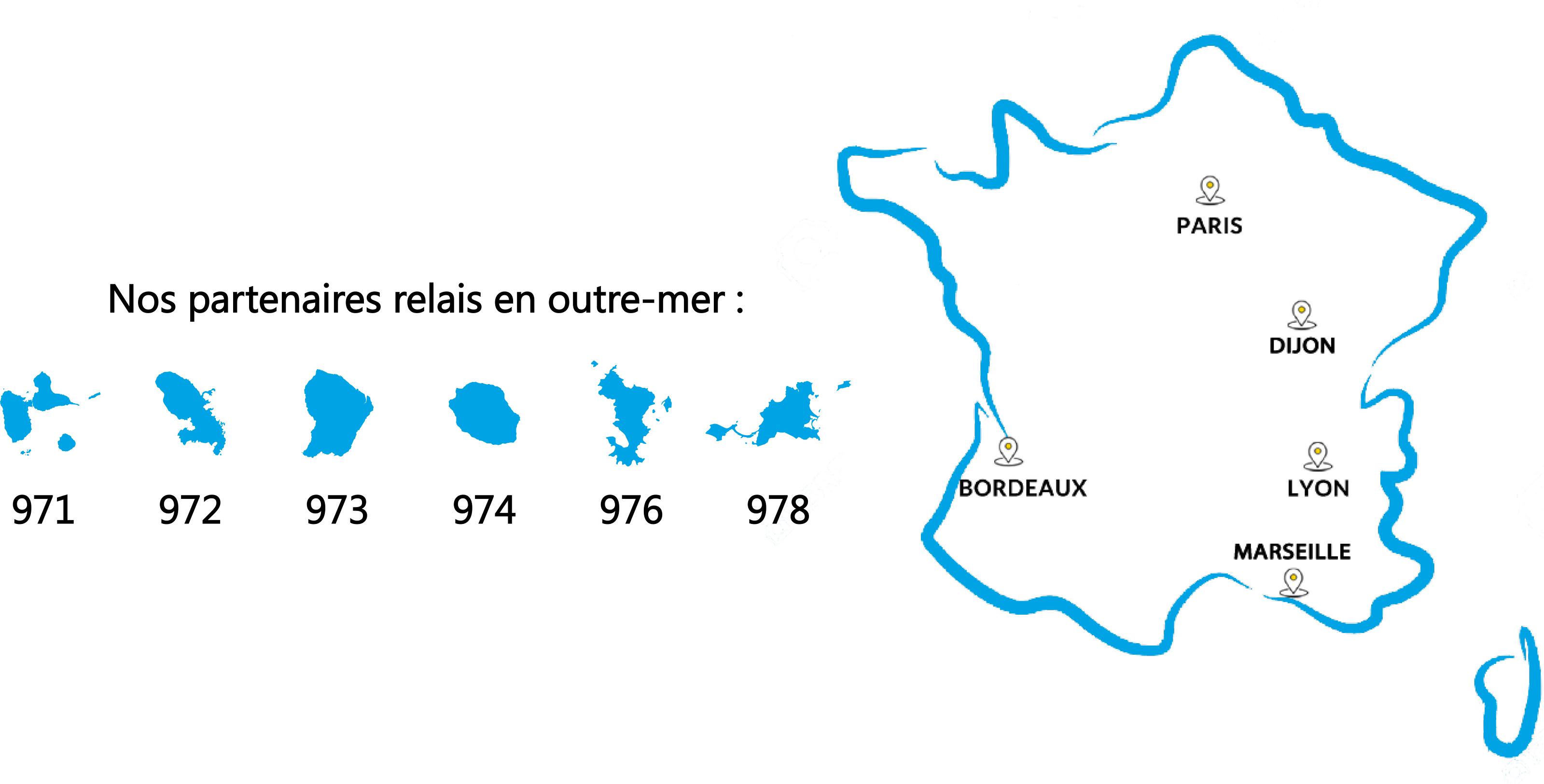 carte France et Outre-mer